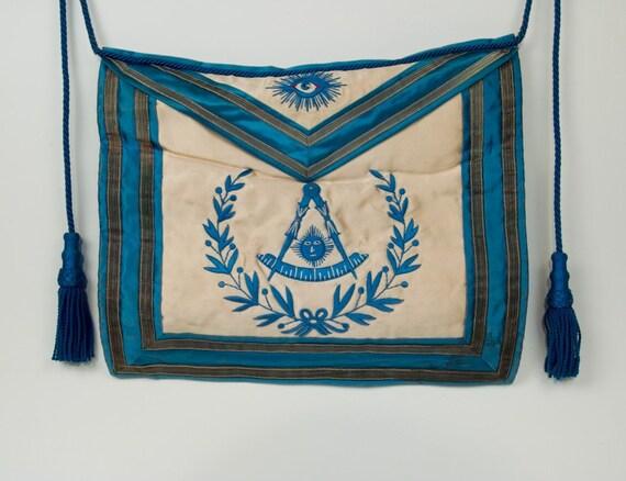 Vintage Silk 1930s Masonic Master's Apron with Tassels