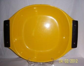 Cathrineholm yellow enamel serving dish - huge rare casserole designed danish modern enamelware