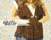 Billie // Vintage Leather Vest