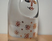 Vintage Crystal Paperweight. Kosta Sweden. 1970. Glass.