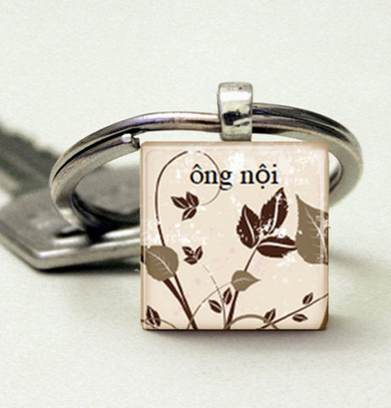 Ong Noi (Grandfather in Vietnamese) Adoption Keychain - 8 Designs Available