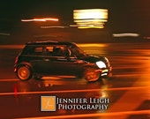 Mini Cooper S in Motion - Motor On - 4x6 print - ByJenniferLeigh