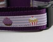 Dog Collar- Purple Cupcakes