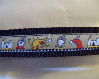 Knight, Castle, Dragon, Horse Dog Collar