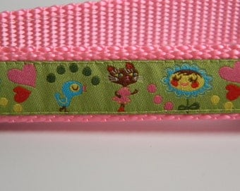 Dog Collar- Miss Kitty in Spring