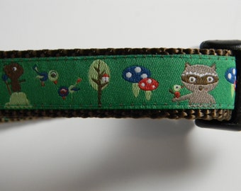 Dog Collar- Raccoon and Friends