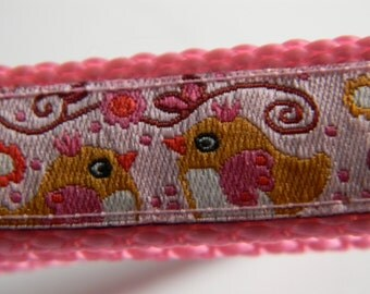 """Easter Chick Dog Collar- Pink (3/4"""" wide)"""