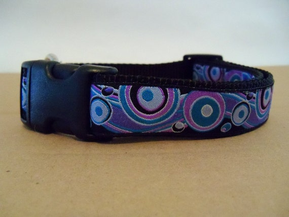 Dog Collar- Bubbles & Waves