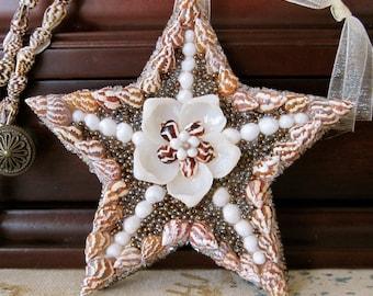 Caviar Star Seashell Star Ornament