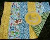 Picnic Blanket in Yellow/Green Modern Living