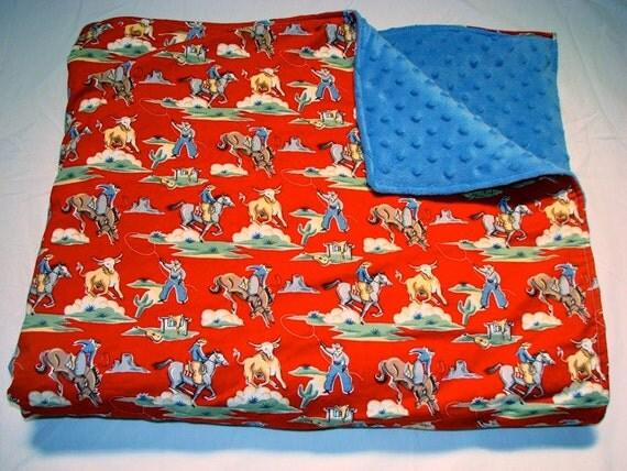 Baby Bedding: Red Cowboy Blanket