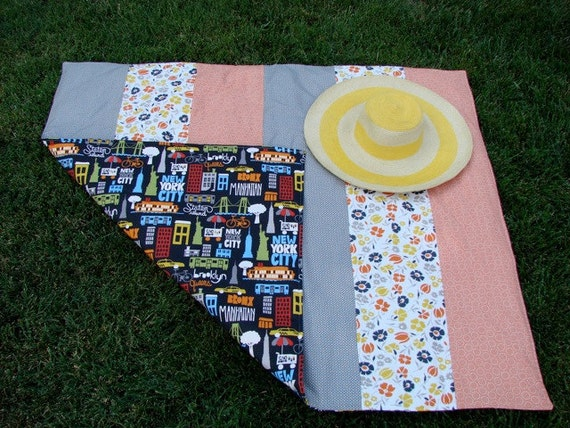 Picnic Blanket in Retro New York for Outdoors Fun