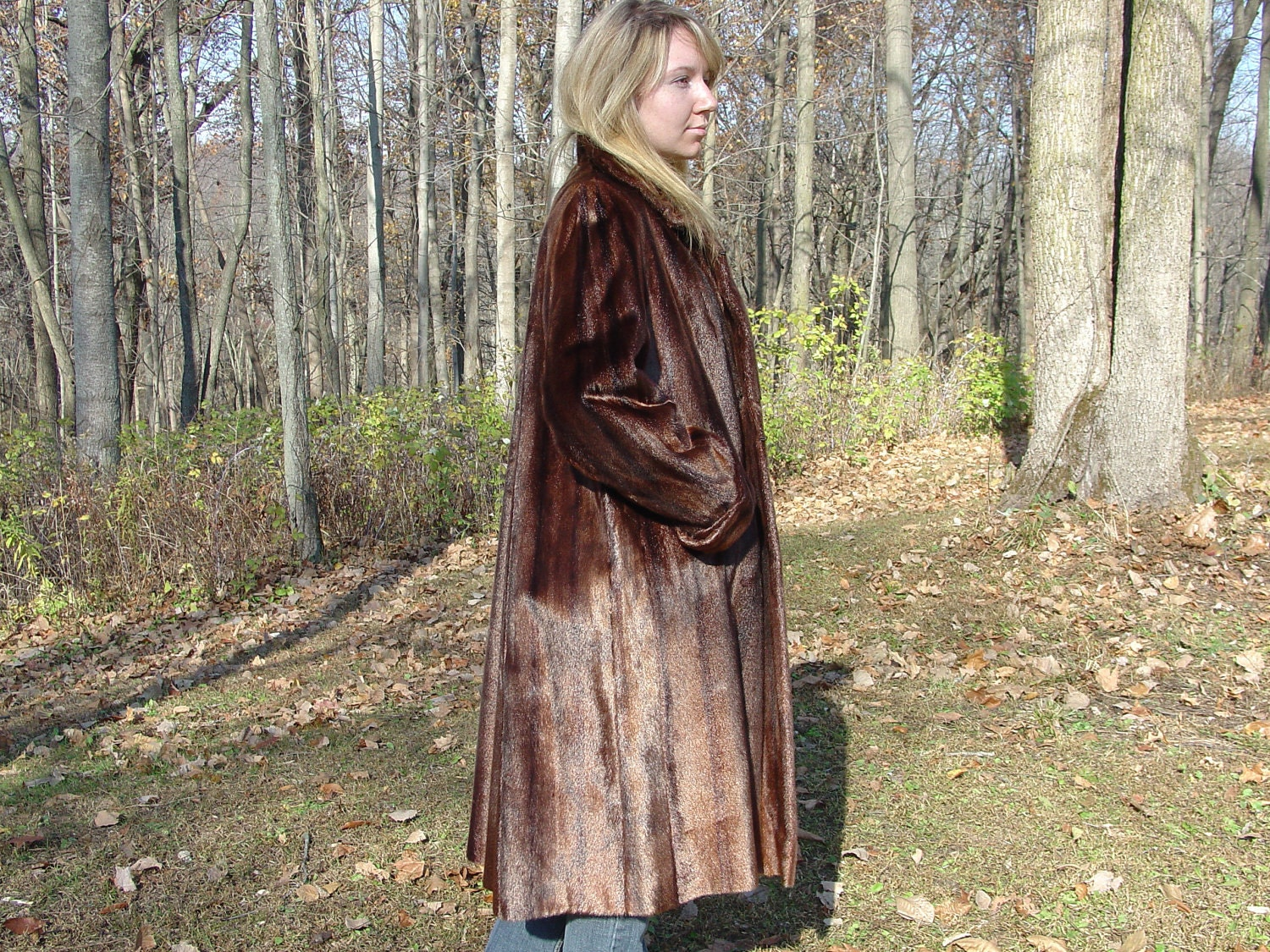 vintage1950&39s seal fur coat Three Rivers by VintageCabinDecor