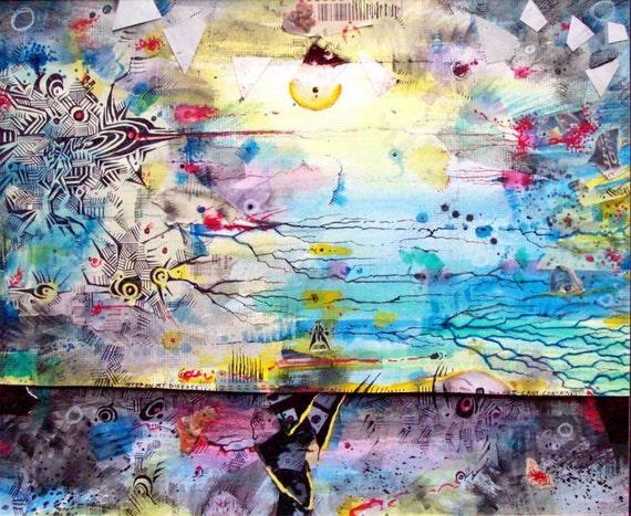 Bender (original mixed media drawing and watercolor painting)