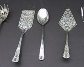 Set of Vintage Silverplate Serving Pieces - 5 Piece Set of Reed and Barton Silverplate