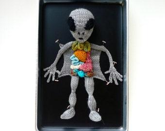 Knitted Alien Autopsy
