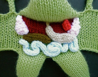 Knitted Dissected Frog 100% Vegan
