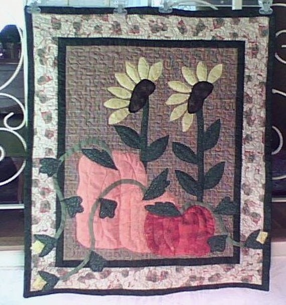 Pumpkins and Sunflowers Wallhanging