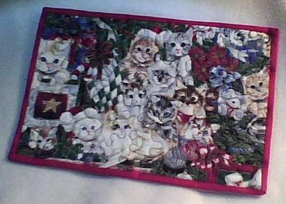 Christmas Cat Pet Mat