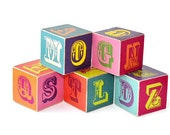 Ready to Ship Alphabet Wooden Blocks