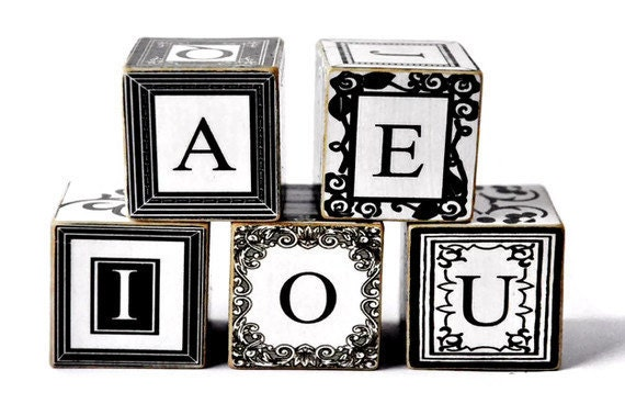 Black And White Abc Blocks : Unavailable listing on etsy