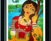Rangili Gujaratan : The Village girl of Gujarat - PRINT