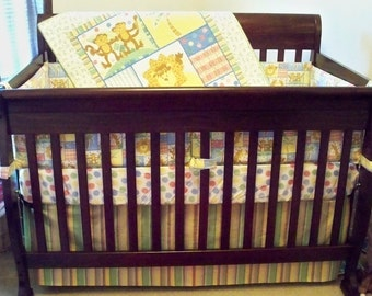 Baby Bedding--3-Piece Jungle Animals Baby Bedding Set