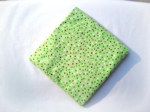 Flannel Receiving Blankets - Baby Swaddle Blanket - Green Brown Dots Blanket - Gender Neutral Baby Blanket - Baby Shower Gift