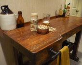 Made to Order- Woodcarvers Bench bar