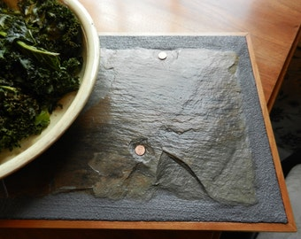 Made to order- Cherry Salvaged Slate Trivet