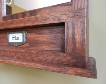 Made to order- Oak Mail and Key Organizer