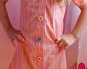 Girl's dress made from repurposed shirt