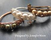 Custom Made - Peapod Rings, Silver, Peas in a Pod, Friendship, Family, Granma, Mom, Valentine Gift