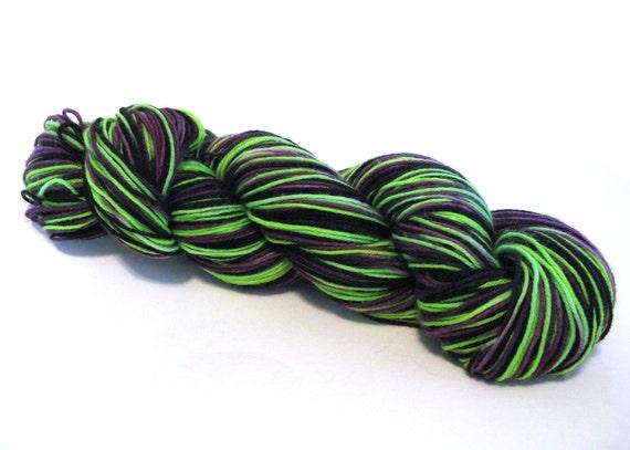 Hand Dyed Superwash Sock Yarn -- Frankenstein