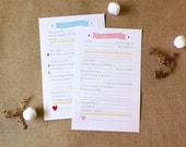 BANNER Baby Shower Advice Cards