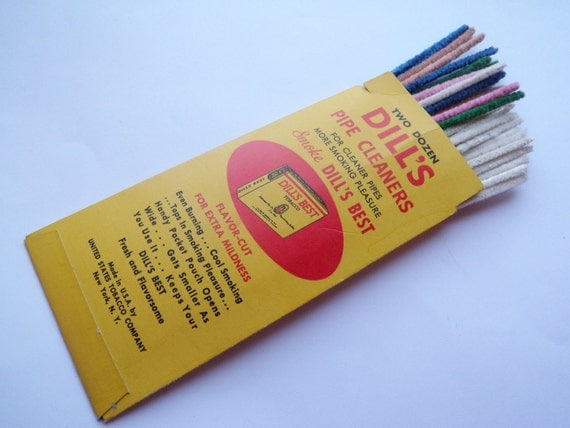 Vintage Pipe Cleaners 32 Dill's Pastel Colors & White