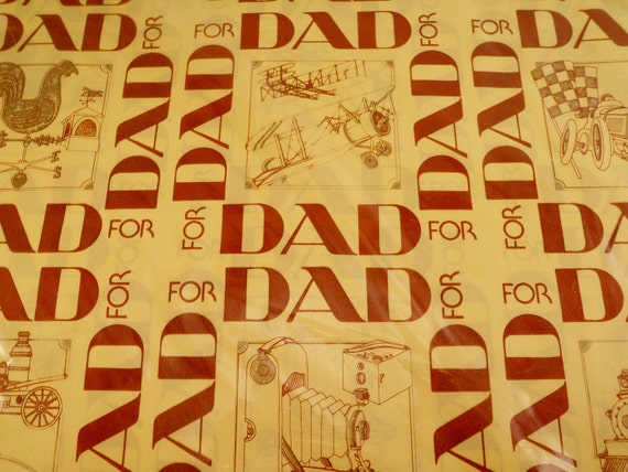 Vintage Wrapping Paper Dad Father S Day Gift Wrap By