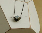 Dodecahedron Pyrite Necklace