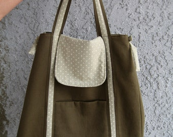 Dark Olive Green Tote (Large)