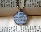 CUSTOM WORD necklace - custom word pendant chain - custom word gift - custom necklace - personalized necklace - vintage dictionary