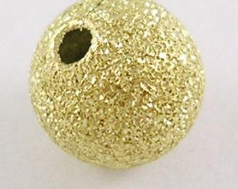 30 GOLD BRASS Stardust Metal Round Beads  8mm bme0172