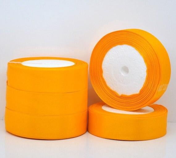 1 inch wide TANGERINE Orange SATIN Ribbon for Weddings, Scrapbooking, Jewelry Making, Sewing, Gift Wrap . 25 yards