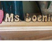 Personalized Teacher's Gift  Apple Nameplate