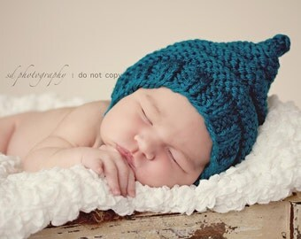 Pixie Chin Strap Purly Ridges Hat Newborn
