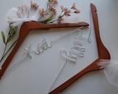 FIVE CUSTOM Bridal Hanger, Personalized Bridal Hanger, Bridal Hanger, Wedding Dress Hanger