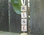 Scrabble Wine Ornament