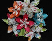 Origami flowers--- crazy colors 3
