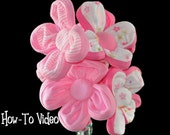 Baby Washcloth Flowers, WashAgami ™,  Bouquet or Diaper Cake Topper