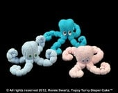 Baby Washcloth Octopus, WashAgami ™, for Diaper Cake Instructional Video (Sale)