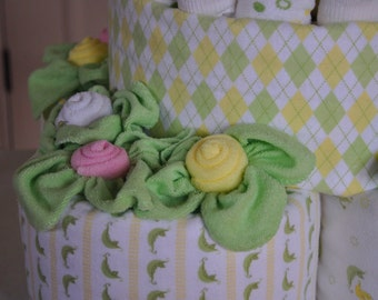 Baby Washcloth Rose & Leaves, WashAgami ™, Video instructions